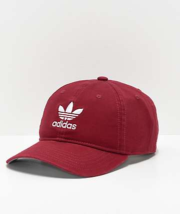 adidas Originals Relaxed Burgundy Strapback Hat