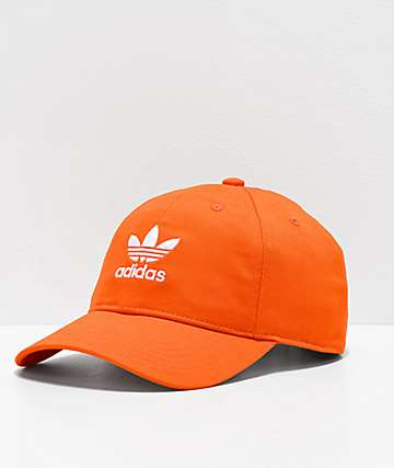 adidas Originals Relaxed Orange Strapback Hat