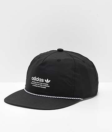 adidas Originals Relaxed Rope Black Strapback Hat