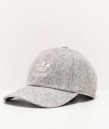 adidas Originals Relaxed Wool Light Grey Strapback Hat