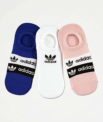 adidas Originals STKD 3 Pack No Show Socks