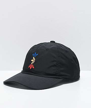 adidas Originals Spacetech Relaxed Black Strapback Hat