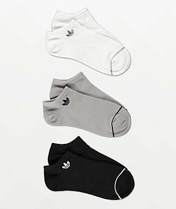 adidas Originals Superlite Black, White and Grey 3 Pack No Show Socks