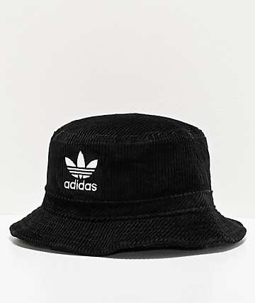 adidas Originals Widewale sombrero de cubo de pana negra