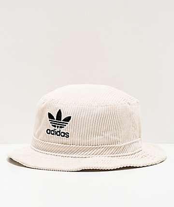 adidas Originals sombrero de cubo de pana blanca