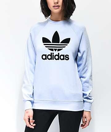 adidas Periwinkle Crew Neck Sweatshirt