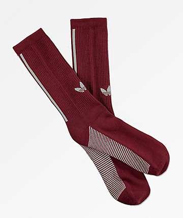 adidas Statement Burgundy Crew Socks