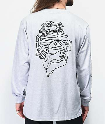 adidas Sweethands Grey & Black Long Sleeve T-Shirt