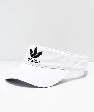 adidas TreFoil White Visor