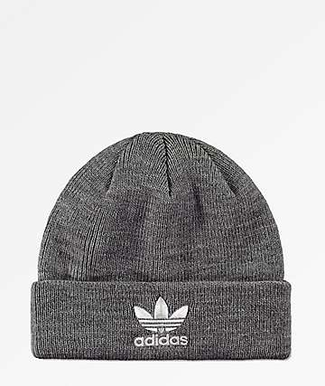adidas Trefoil Heather Grey Beanie