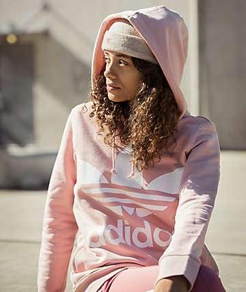 adidas Trefoil Logo Pale Pink Hoodie