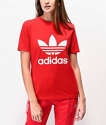 adidas Trefoil camiseta escarlata