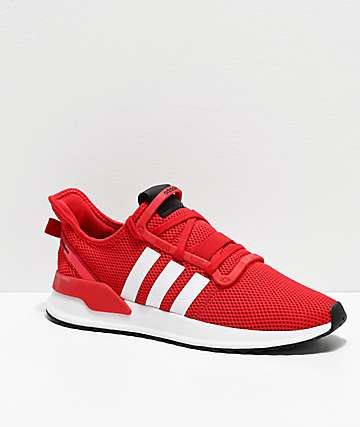 adidas U Path Run Scarlet & White Shoes