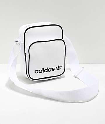 adidas Vintage bolso de hombro blanco