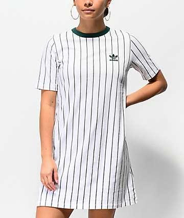 adidas White Stripe T-Shirt Dress