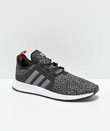 adidas Xplorer Black, Heather Grey & Red Shoes