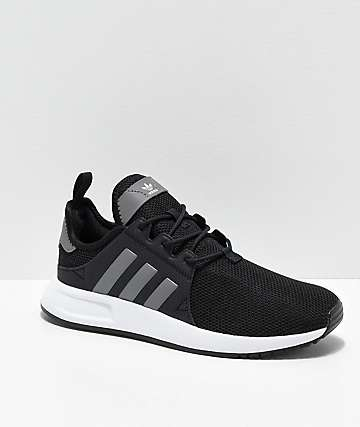adidas Xplorer Black, Heather Grey & White Shoes