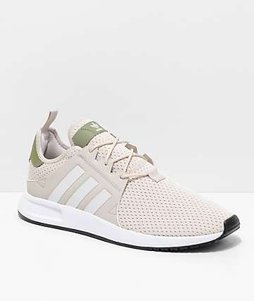 adidas Xplorer Light Brown, Green & White Shoes