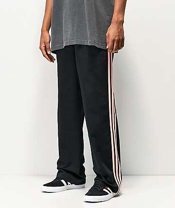 adidas x Nora 3 Stripe Black & Glow Pink Chino Pants