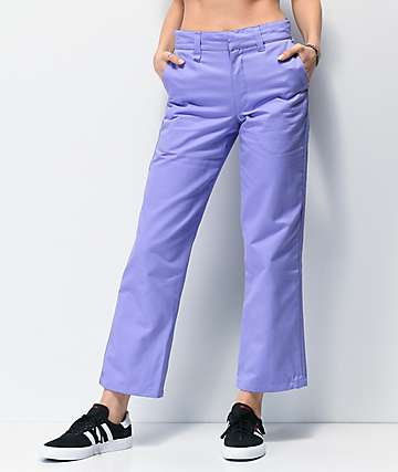adidas x Nora 3 Stripe Purple Chino Pants