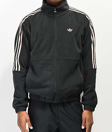 adidas x Nora Black & Glow Pink Fleece Jacket
