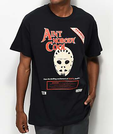 aintnobodycool Death Face Black T-Shirt