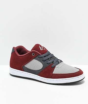 eS Accel Slim Red & Grey Skate Shoes