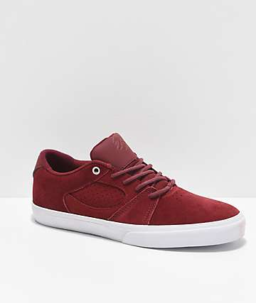 eS Square Three Burgundy Skate Shoes