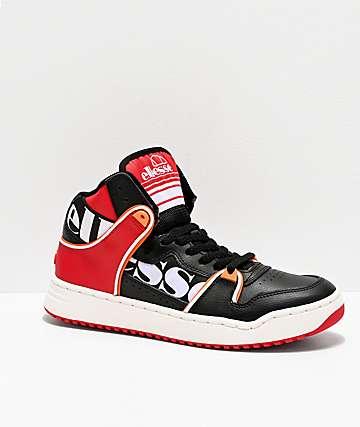 ellesse Assist Hi Black & Red Shoes