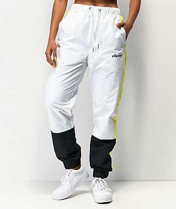 ellesse Tutti Yellow, Black & White Track Pants