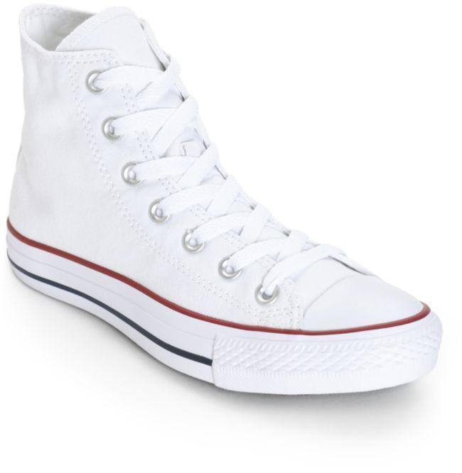 Tacón Tener un picnic Caña  Converse Chuck Taylor All Star zapatos alto top blanco (mujer) | Zumiez