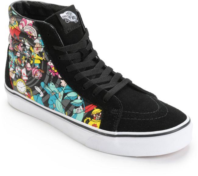 Vans x Alice In Wonderland Sk8 Hi Rabbit Hole zapatos de skate ...