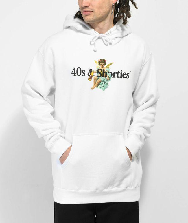 40s & Shorties Angel Logo White Hoodie