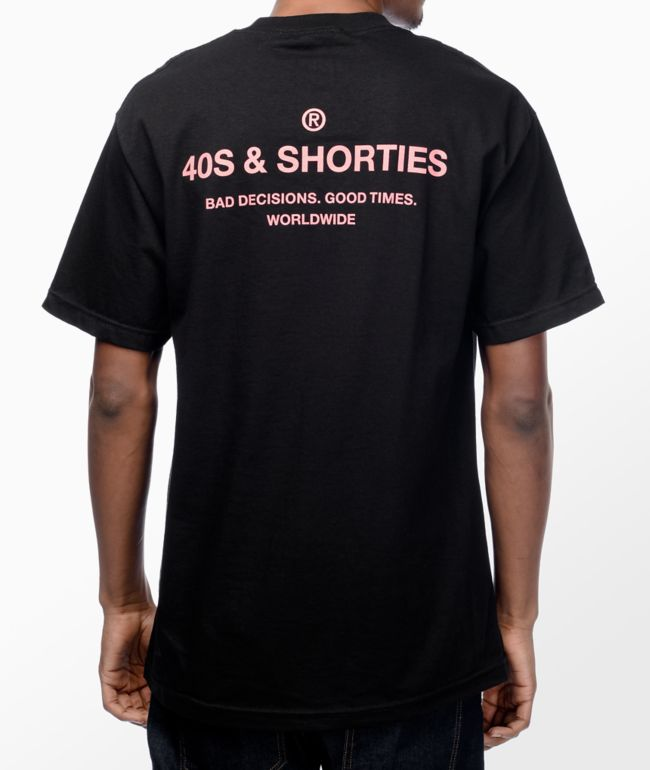 40s & Shorties General Black & Pink T-Shirt