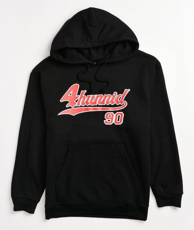 4Hunnid 90s Black & Red Hoodie