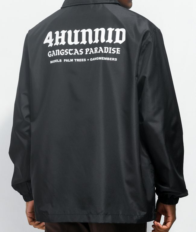 4Hunnid Paradise Black Coaches Jacket