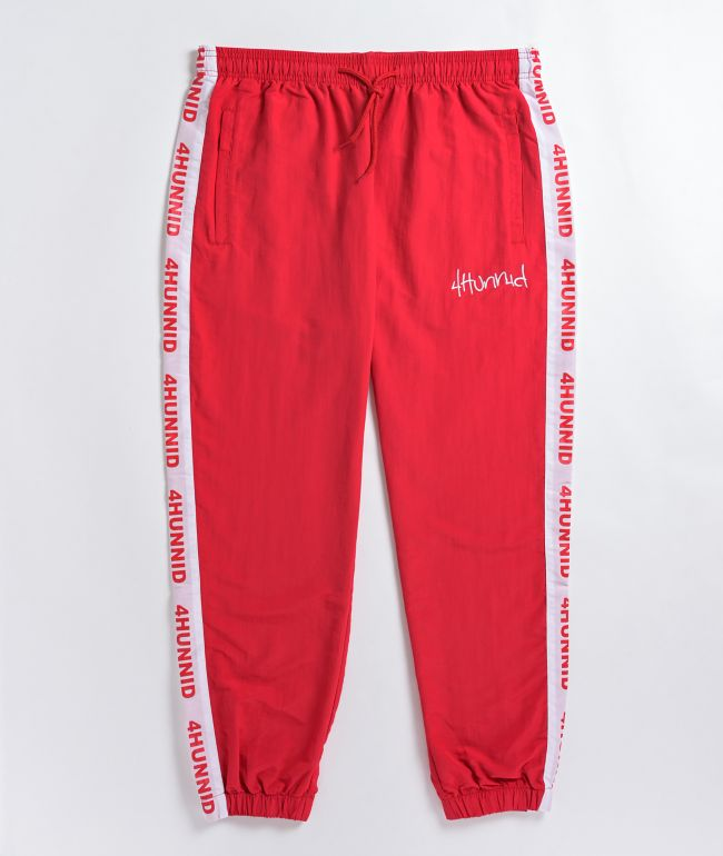 4Hunnid Red Track Pants