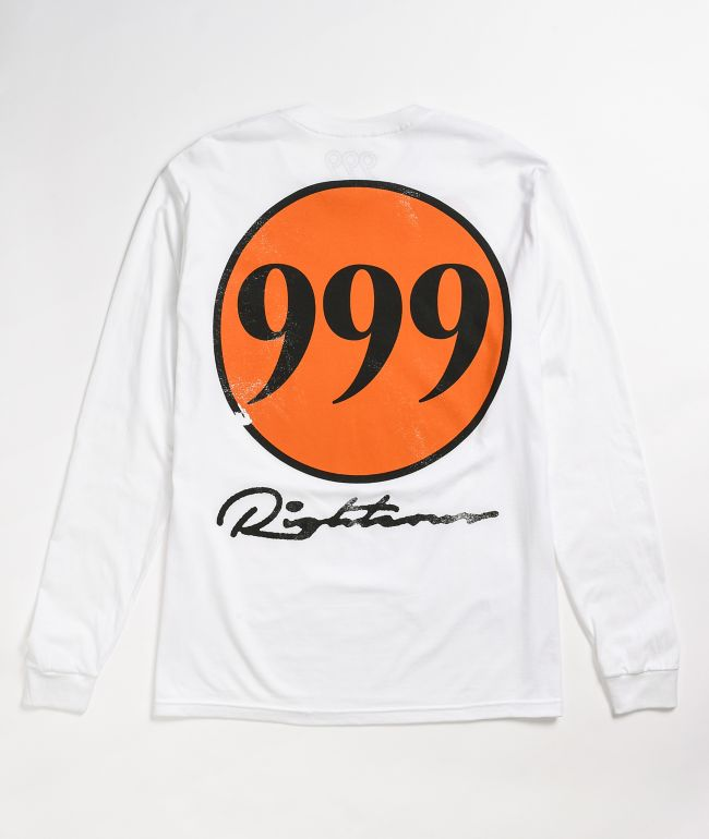 999 Club Righteous White Long Sleeve T-Shirt