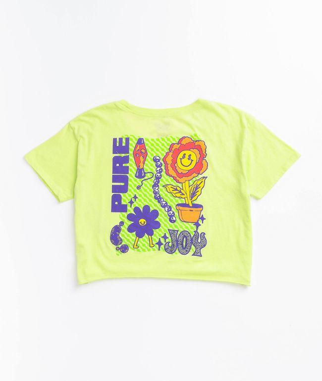 A-Lab Ballina Lime Crop T-Shirt