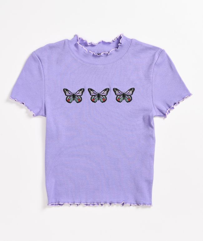 A-Lab Curly Butterfly Lavender T-Shirt