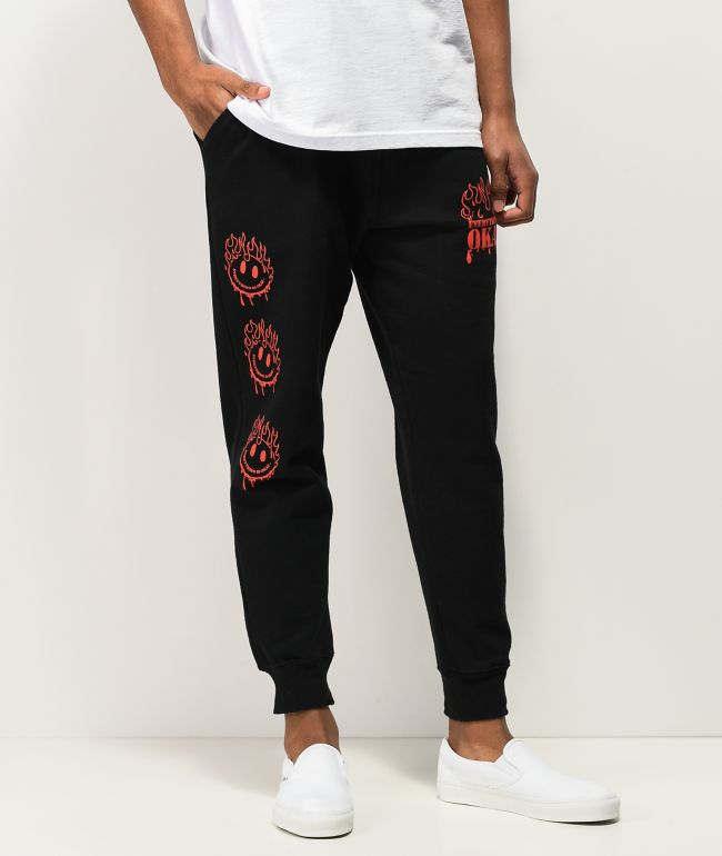 A-Lab Everything Is Fine Black Jogger Sweatpants