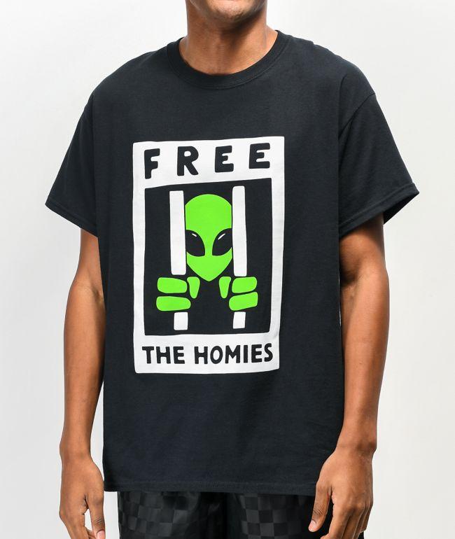 A-Lab Free The Homies Black T-Shirt