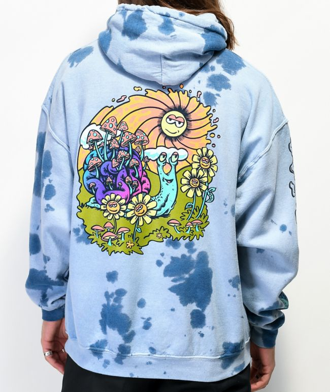 A-Lab Hippie Snail sudadera con capucha de tie dye azul