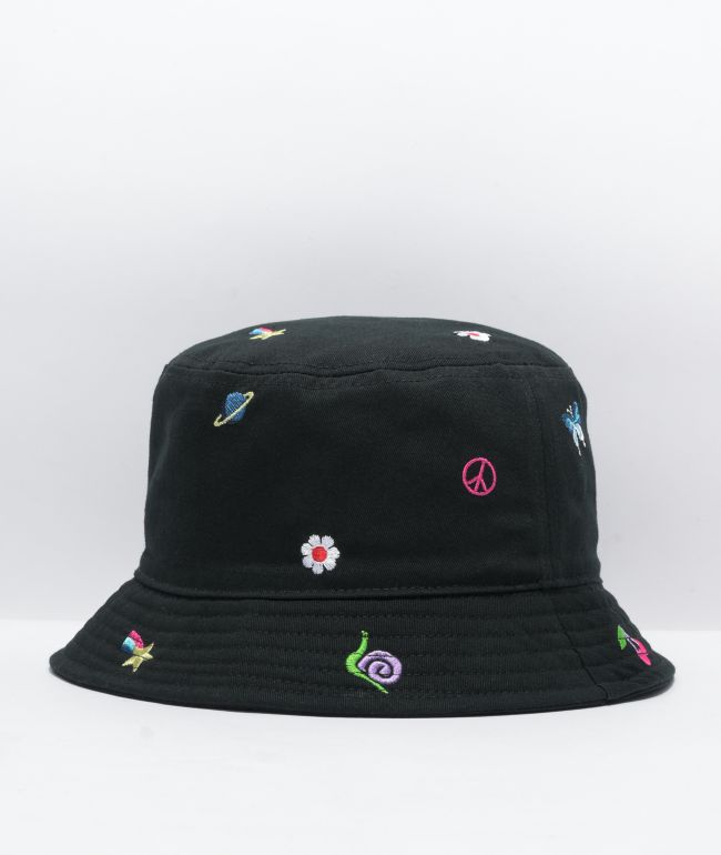 A-Lab Icon Embroidered Black Bucket Hat