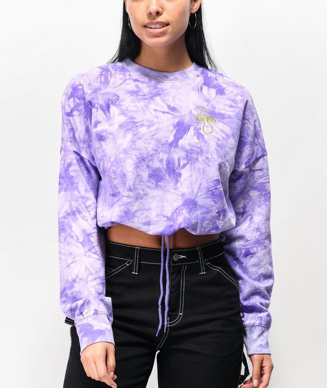 Civilized Purple Tie Dye Bones Crewneck Sweatshirt