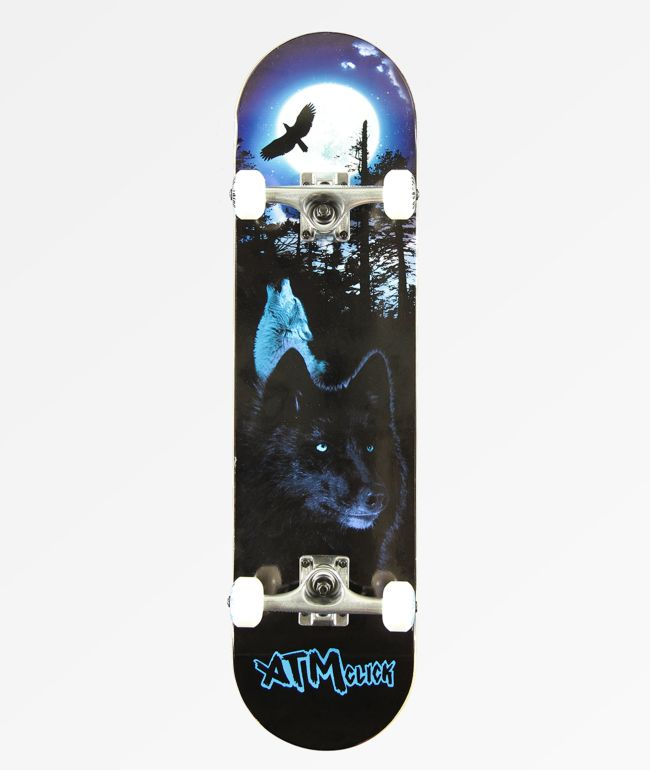 """ATM Lone Wolf 8.0"""" Skateboard Complete"""