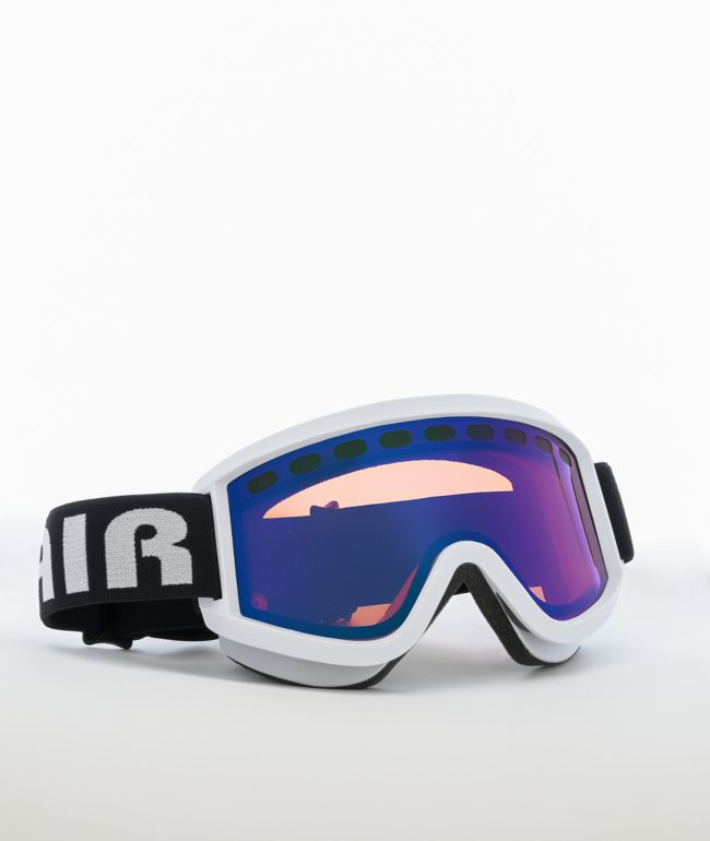 Airblaster Clipless Air White & Rose Blue Snowboard Goggles