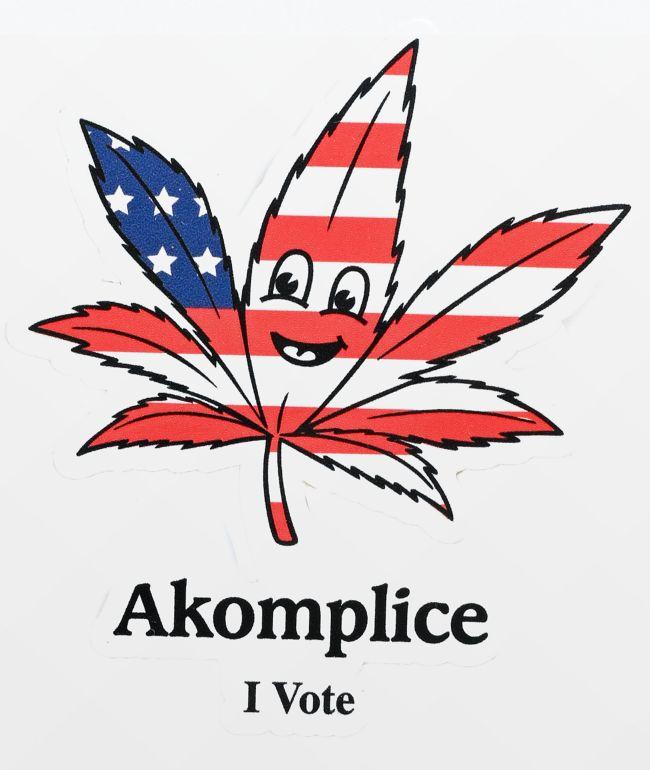 Akomplice Legalize It pegatina