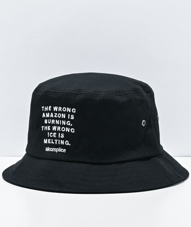 Akomplice Wrong Amazon Black Bucket Hat