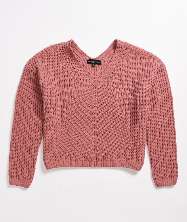 Almost Famous Chenille Shaker Stitch Sweater